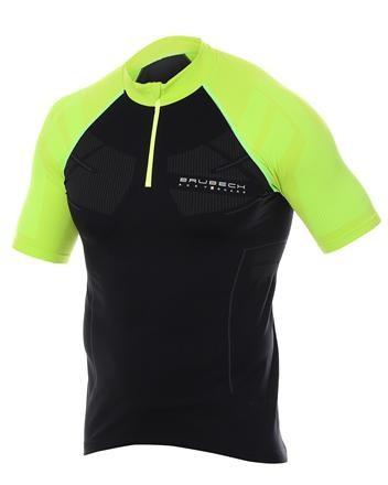 Koszulka Brubeck SS12390 unisex black-neon
