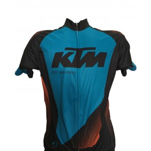 Koszulka KTM Factory Line race czarno-turkusowa
