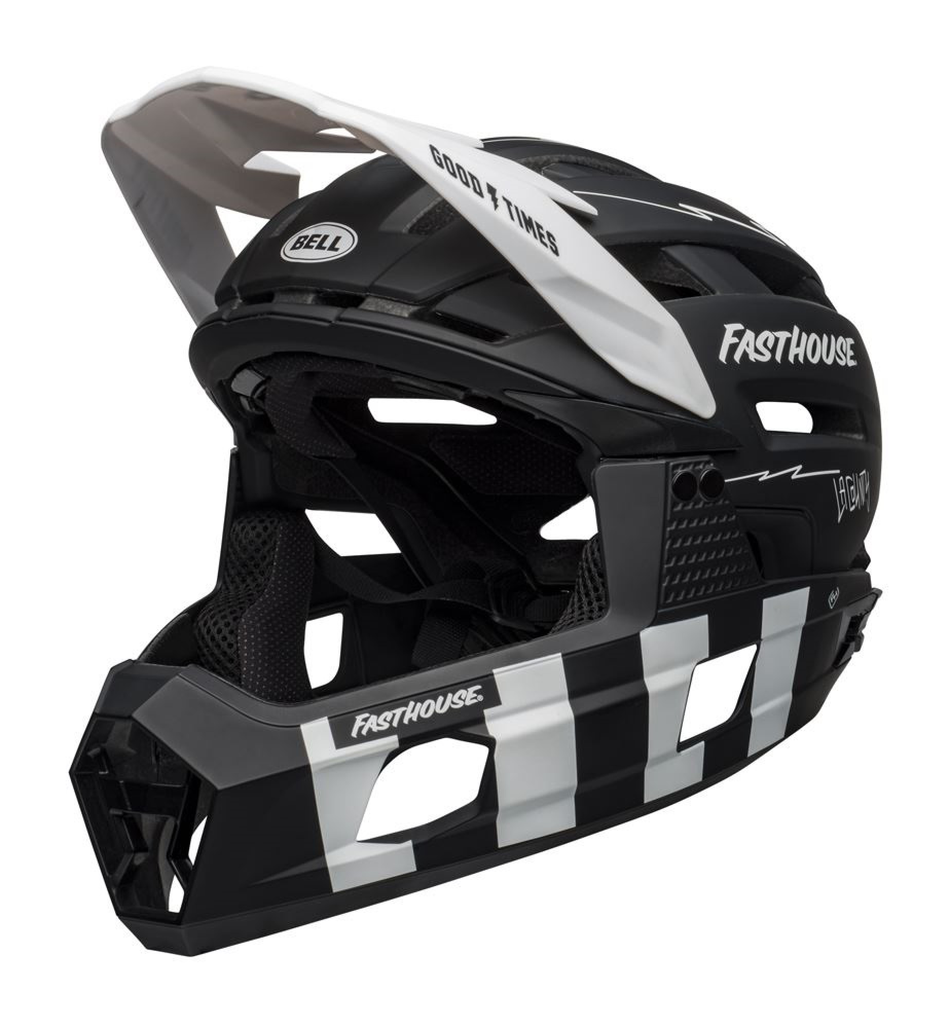 Kask BELL SUPER AIR R MIPS SPHERICAL matte black white fasthouse